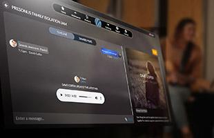 computer monitor displaying PreSonus Sphere workspace interface