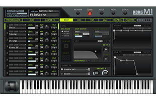 screenshot from Korg M1 software synthesizer