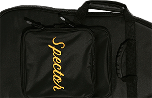 detail image of Spector SSGB bass guitar gig bag showing padded handle and accessory pocket