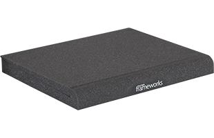 perspective view of a single Gator Frameworks GFW-ISOPAD-LG Studio Monitor Isolation Pad – Large with included foam insert in flat configuration