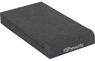 perspective view of a single Gator Frameworks GFW-ISOPAD-SM Studio Monitor Isolation Pad – Small with included foam insert in flat configuration