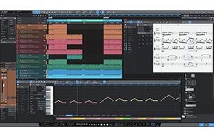 screenshot from PreSonus Studio One 5 Professional showing Score View