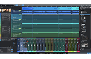 screenshot from PreSonus Studio One 5 Professional showing Show Page