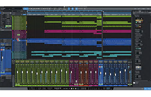 screenshot from PreSonus Studio One 5 Professional showing Song Page