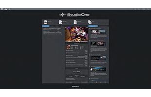 screenshot from PreSonus Studio One 5 Professional showing Start Page
