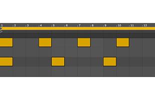 diagram illustrating polyrhythms on digital audio workstation piano roll