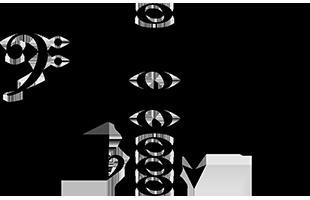 musical score notation illustrating subharmonic series