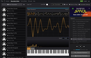 screenshot of Novation Summit wavetable editor software