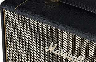 close-up view from above of Marshall SV112 showing top, speaker grille and Marshall logo