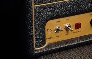 detail image of Marshall SV20H showing power and standby switches
