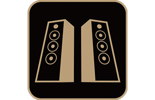 icon illustration representing hi-fi audio technology in Yamaha THR30IIA Wireless