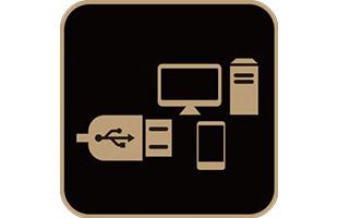 icon illustration representing integrated audio interface in Yamaha THR30IIA Wireless