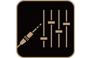 icon illustration representing line outputs on Yamaha THR30IIA Wireless