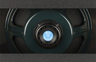 close-up image of Fender Tone Master Deluxe Reverb amplifier back showing Jensen N-12K Neo speaker