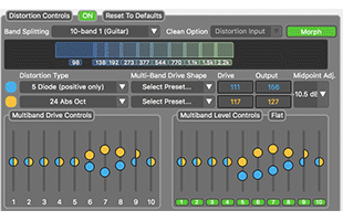 screenshot from Source Audio Neuro desktop editor companion app software showing interface for adjusting parameters on Source Audio Ultrawave Bass Multiband Processor