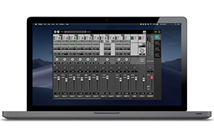 laptop computer running Steinberg dspMixFx application
