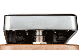 front detail view of Vox V847-C wah pedal showing on/off toggle switch