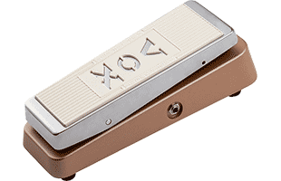 3/4 view of Vox V847-C wah pedal showing top, right side and front