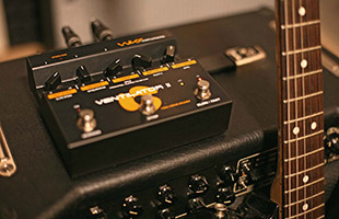 Neo Instruments Ventilator II perched on guitar amplifier