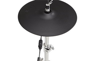 close-up side view of Roland VH-14D mounted on hi-hat stand