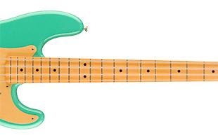 detail image of Fender Vintera '50s Precision Bass showing fretboard