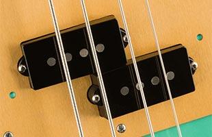 detail image of Fender Vintera '50s Precision Bass showing pickup
