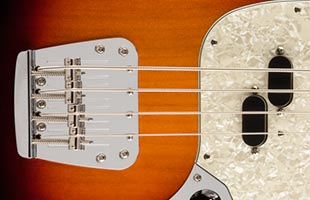 detail image of Fender Vintera '60s Mustang Bass showing pickup