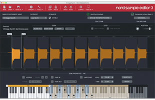 screenshot of Nord Sample Editor 3 software
