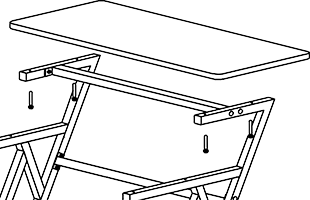 assembly illustration detail showing attachment of top surface