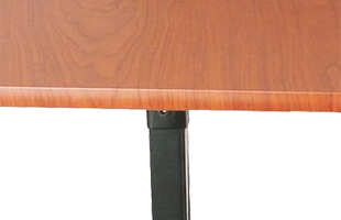 detail image of On-Stage WSC7500RB Workstation Corner Accessory showing black frame finish and rosewood laminate surface finish