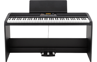 Korg XE20 digital piano on dedicated stand