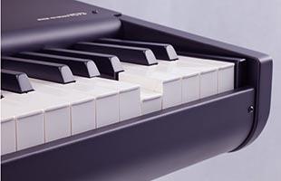 detail image of Yamaha YC73 keybed with one key depressed